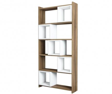 Knihovna Box  Walnut White