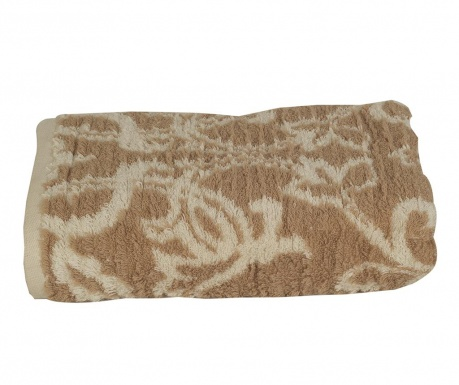 Kopalniška brisača Pure Nature Cream Brown 50x90 cm