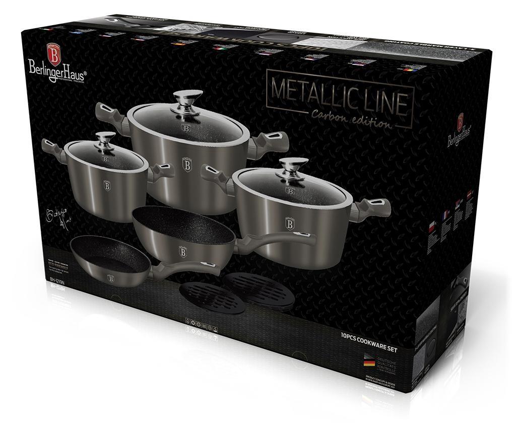10-delni set posode za kuhanje Metallic Line Silver Edition