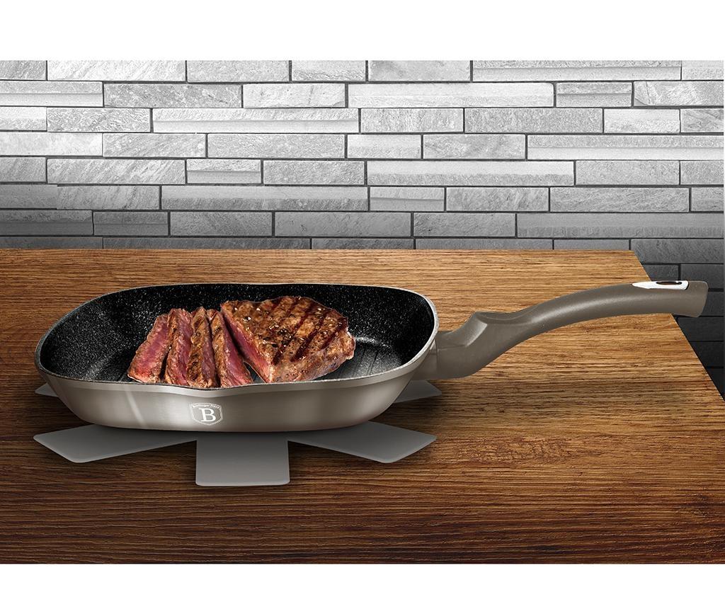 Metallic Carbon Grill serpenyő 28x28 cm