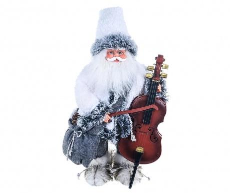 Decoratiune muzicala Old Santa Double Bass