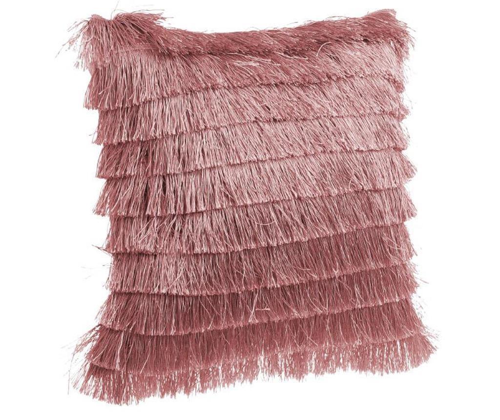 Okrasna blazina Daisha Fringes Pink 40x40 cm