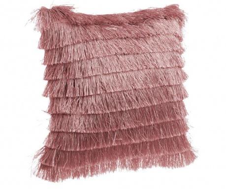 Perna decorativa Daisha Fringes Pink 40x40 cm
