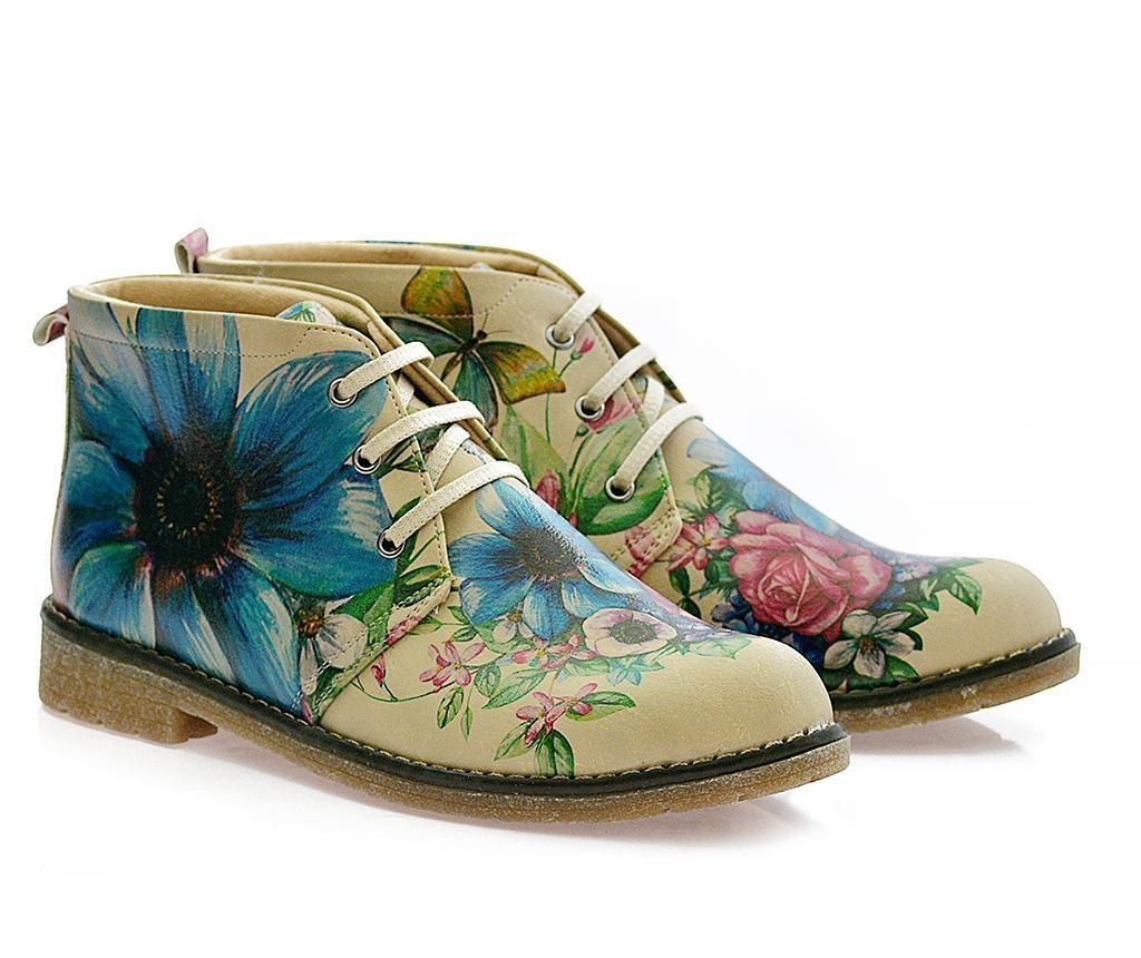 Ženske gležnjače Butterfly and Flowers 39
