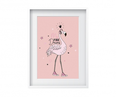 Obraz Flamingo Dreams 24x29 cm