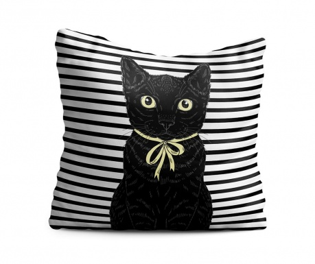 Perna decorativa Black Cat 43x43 cm