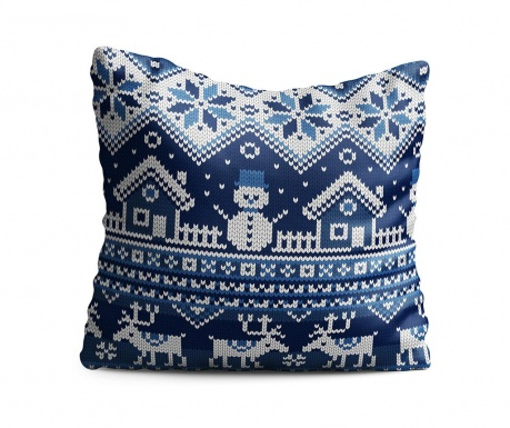 Perna decorativa Winter Spirit Blue 43x43 cm