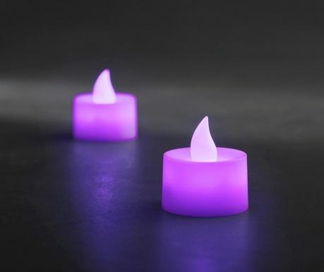 Set 2 lumanari cu LED Legeril Purple