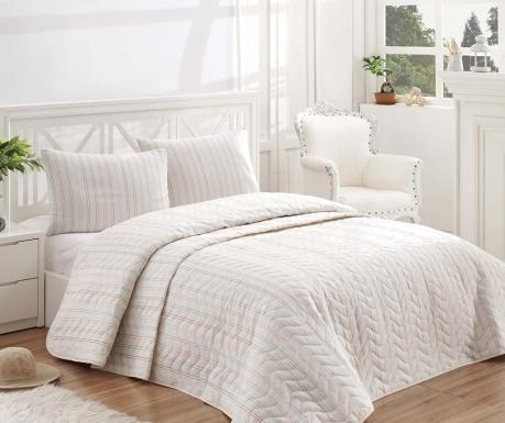 Set s prešitim posteljnim pregrinjalom Single Extra Tunica Cream