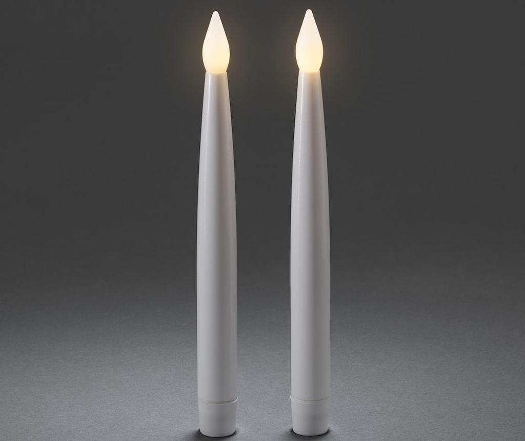Set 2 LED svijeće Flackernde