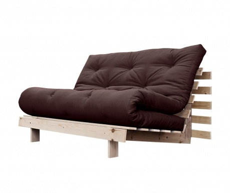 Sofa extensibila Roots Wide Natural and Brown