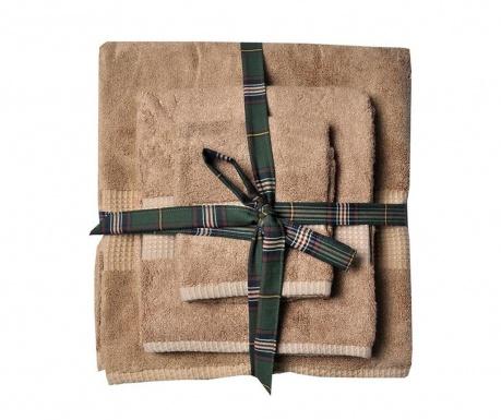Комплект 3 кърпи за баня Phuket Sandybrown