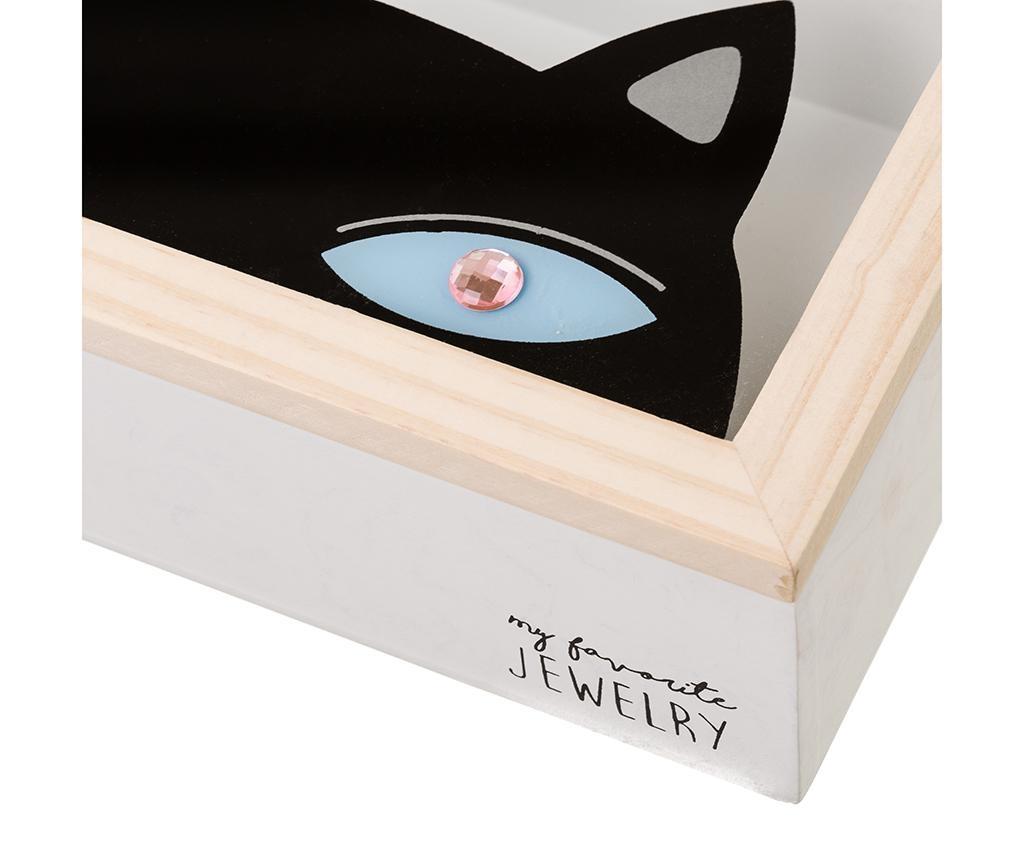 Shopping Cat Black Ékszertartó doboz