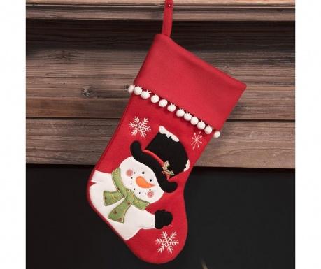 Dekoračná ponožka Snowman