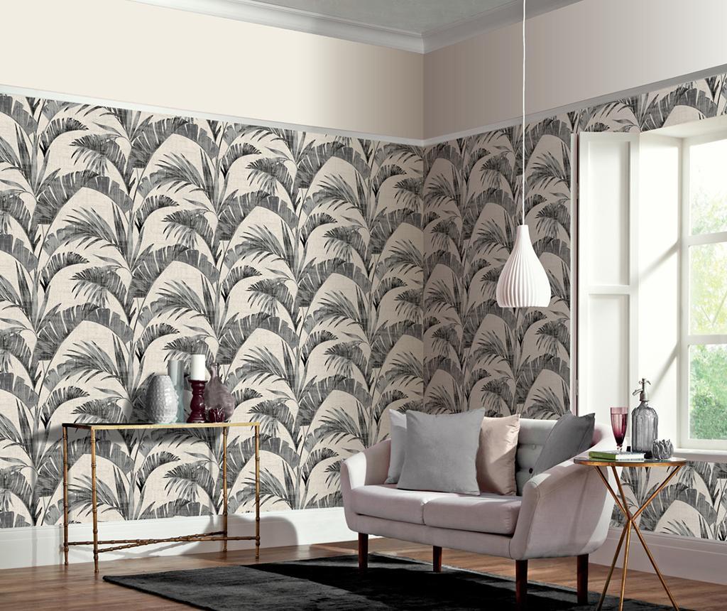 Tapet Banana Palm Charcoal 53x1005 cm - Arthouse