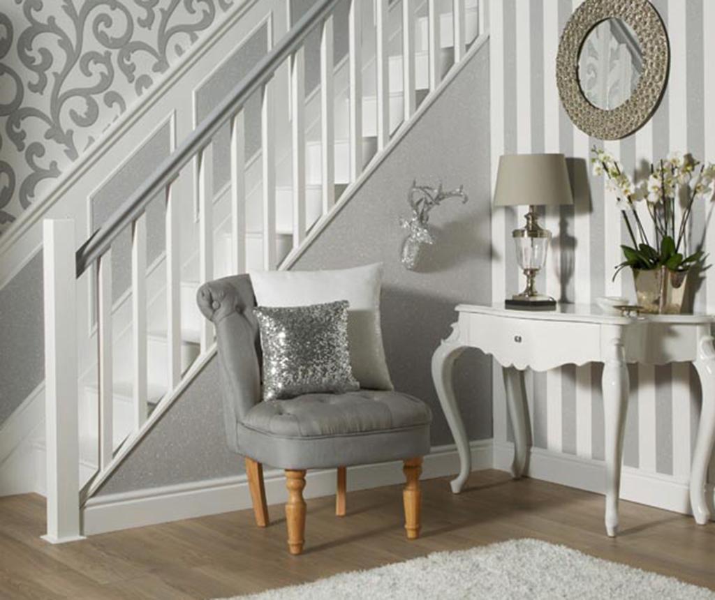 Tapet Glitterati Plain Silver 53x1005 cm - Arthouse