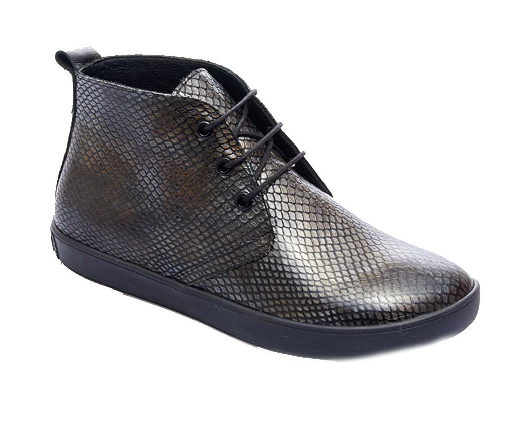Ghete dama Blas Grey Snake 36 - Comfortfüße, Gri & Argintiu