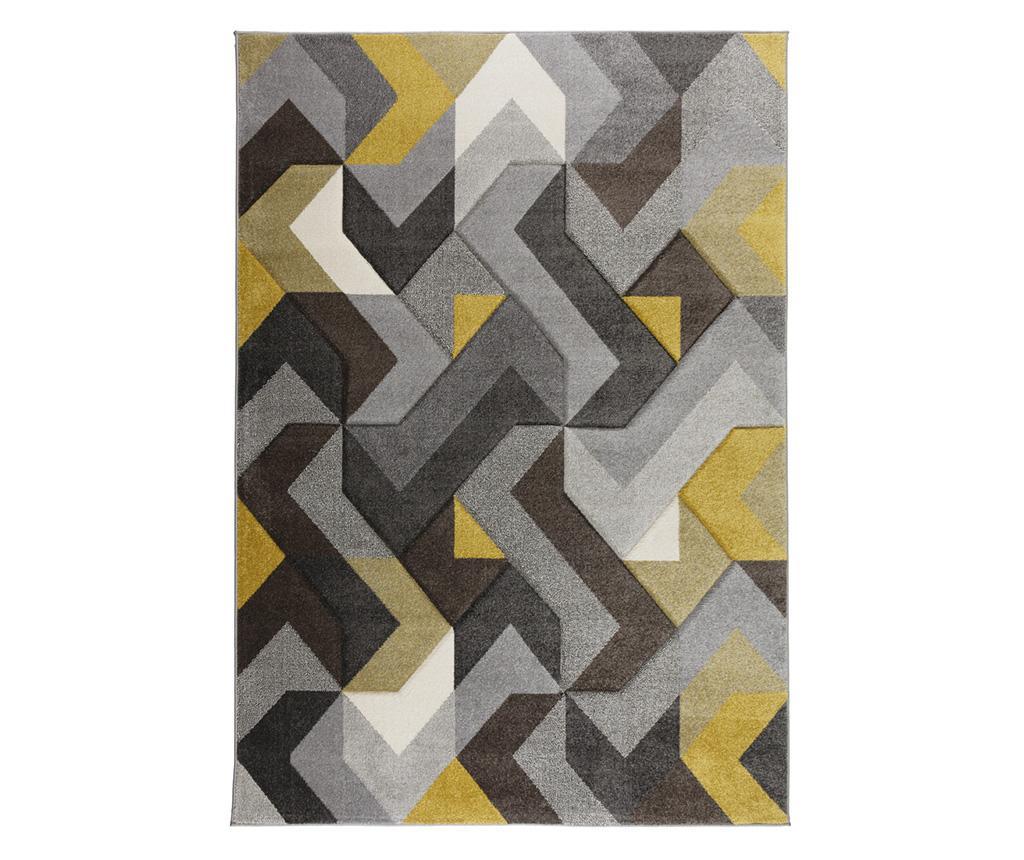 Covor Aurora Grey & Yellow 120x170 cm - Flair Rugs, Gri & Argintiu