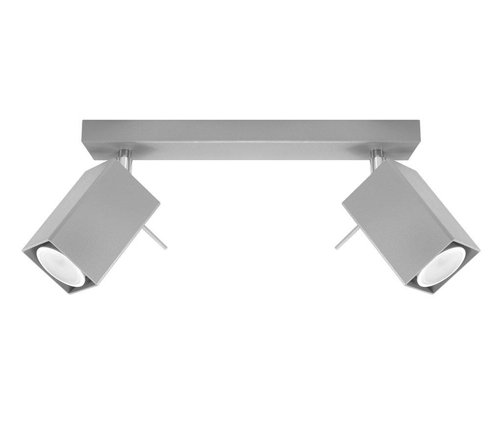Plafoniera Toscana Two Grey - Nice Lamps, Gri & Argintiu