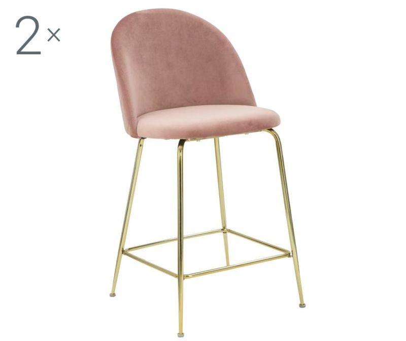 Set 2 scaune de bar Luxury Rose