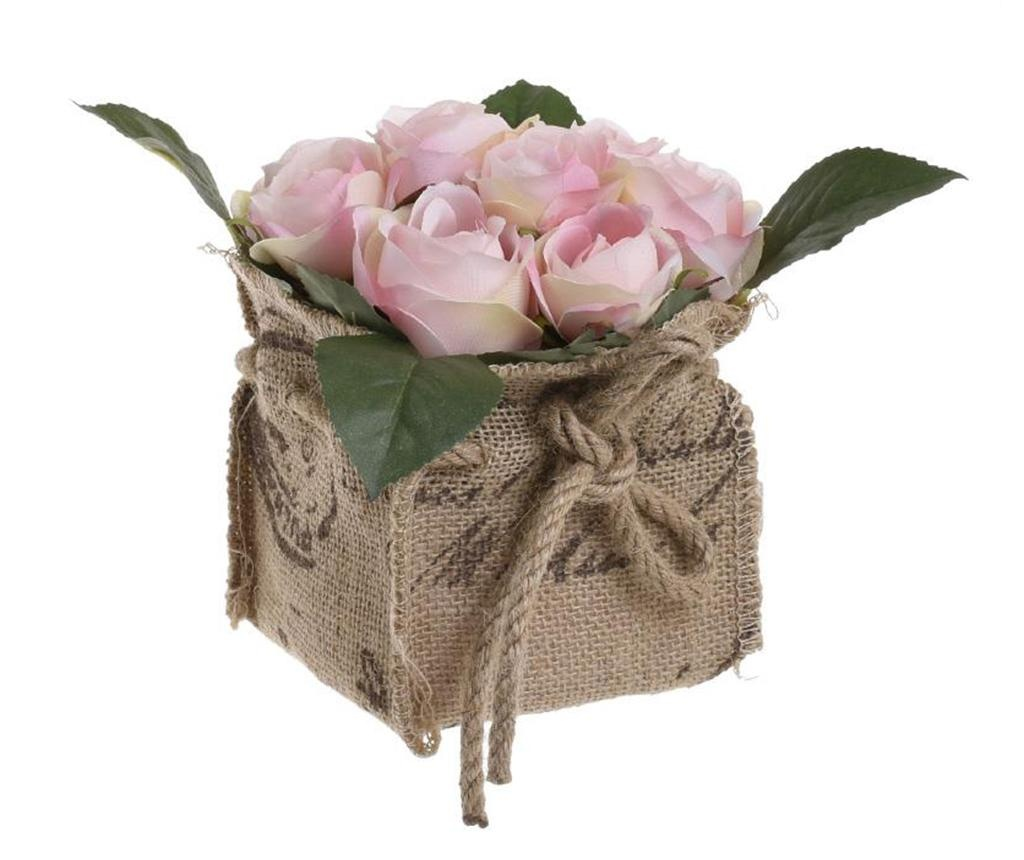 Umelá kvetina v kvetináči Rose