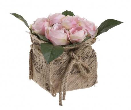 Изкуствено цвете в саксия Rose