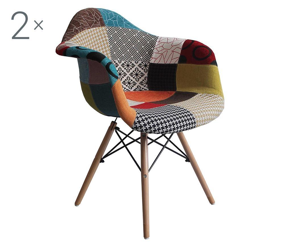 Sada 2 stoličiek Patchwork Design