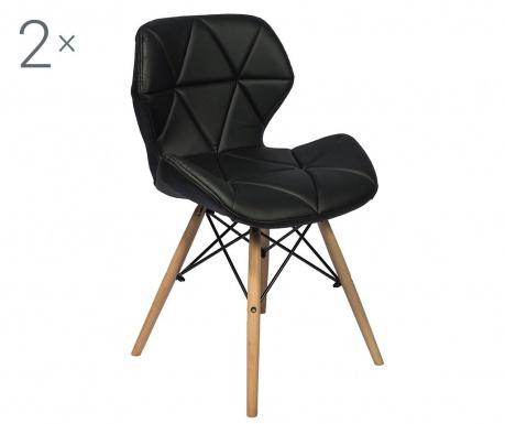 Set 2 stolov Alia Black