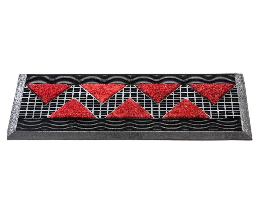 Tekno Black Bordeaux Lábtörlő szőnyeg 44x75 cm