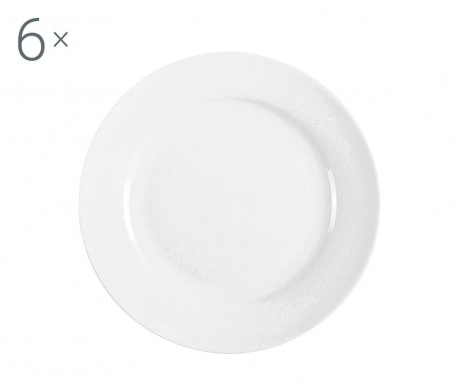 Сервиз 6 десертни чинии Federica White