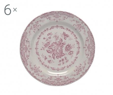 Сервиз 6 плитки чинии Rose Pink