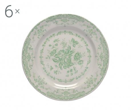 Сервиз 6 плитки чинии Rose Green