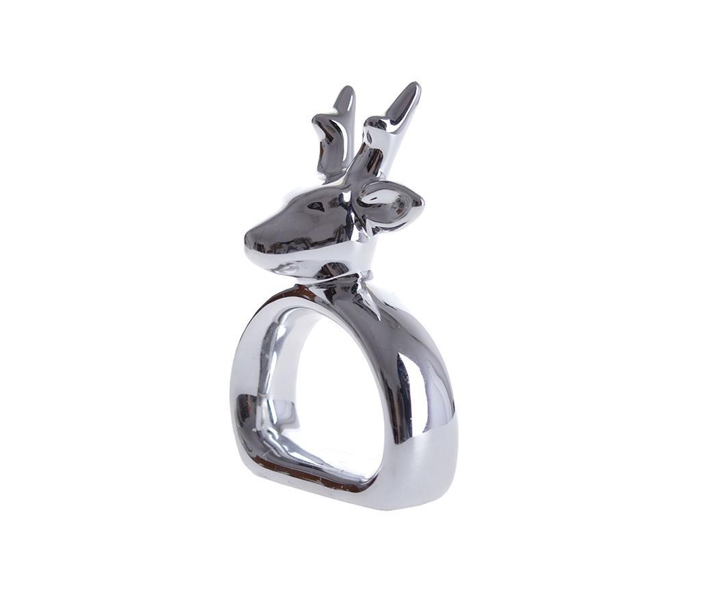 Obroček za prtiček Reindeer Silver