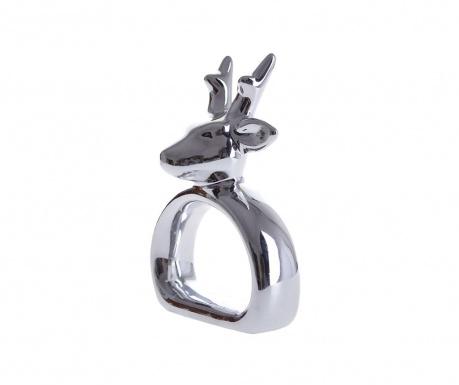Obrączka na serwetkę Reindeer Silver