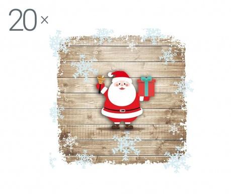 Zestaw 20 chusteczek Jingle