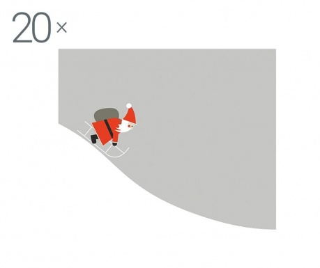 Zestaw 20 chusteczek Santa Comes
