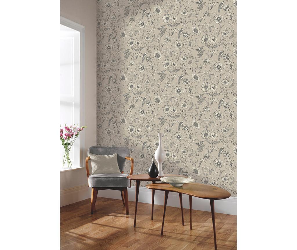 Tapet Botanical Songbird Natural 53x1005 cm