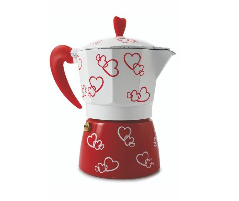 Kuhalo za kavu Red Hearts