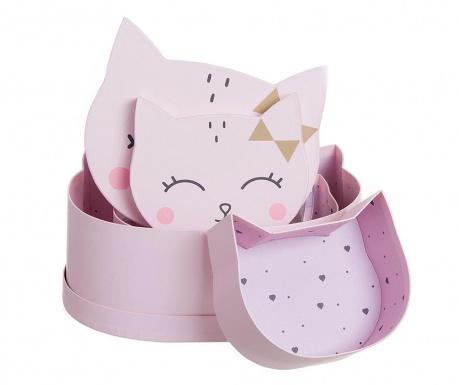 Zestaw 3 pudełek z pokrywką Dreamy Kitty