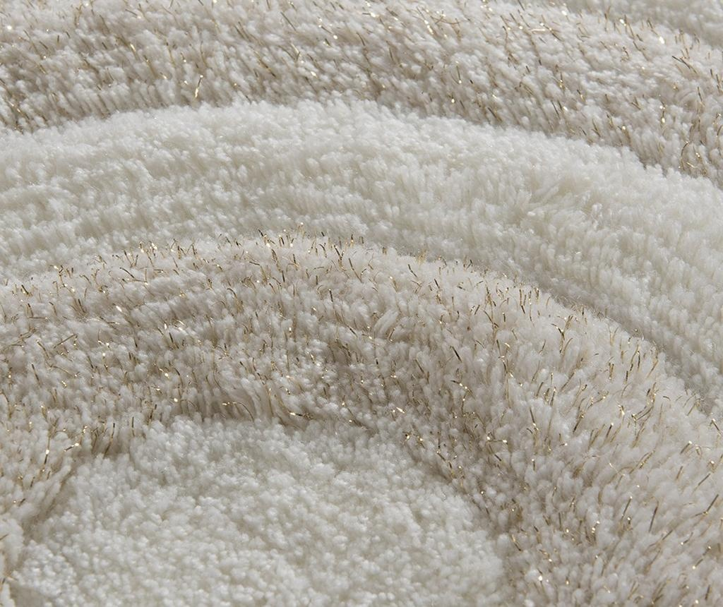 Circles Cream Glitter 2 db Fürdőszobai szőnyeg