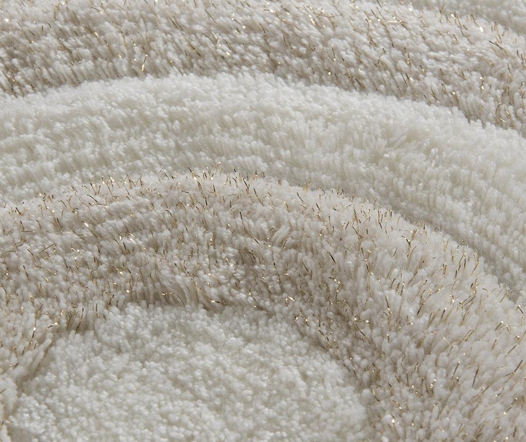 Set 2 covorase de baie Circles Cream Glitter