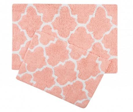 Zestaw 2 dywaników łazienkowych Bali Pink