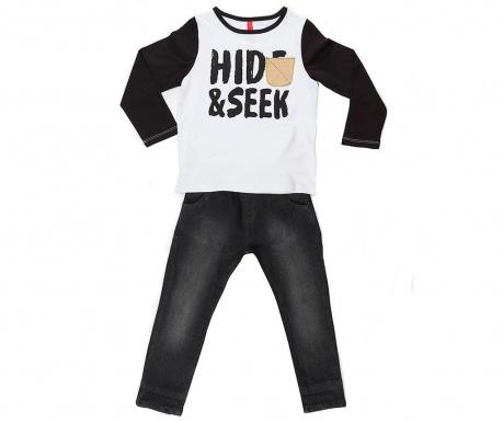 Sada tričko s dlhým rukávom a nohavice pre deti Hide And Seek