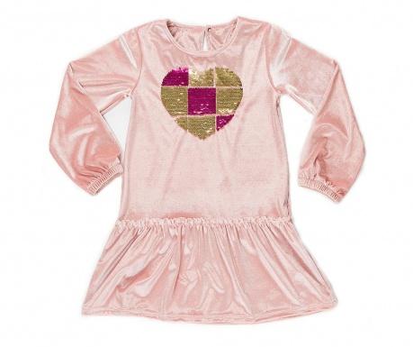 Shinny Heart Velvet Hosszú ujjú gyerek ruha