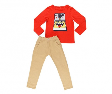 Set bluza si pantaloni copii Smile Gabardine 5 ani