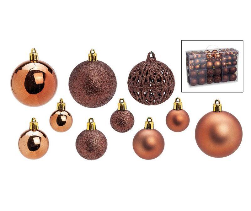 Set 100 globuri decorative Festive Copper