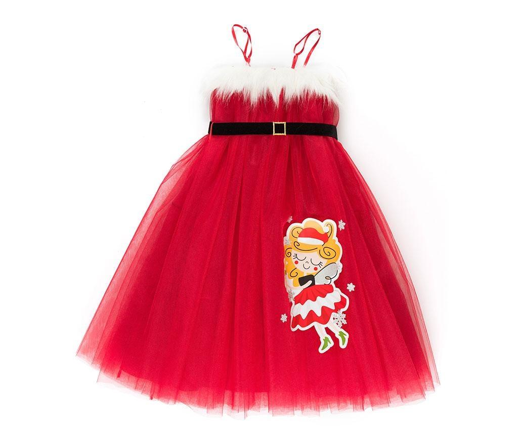 Rochie fara maneci pentru copii Tulle Christmas Fairy 5 ani