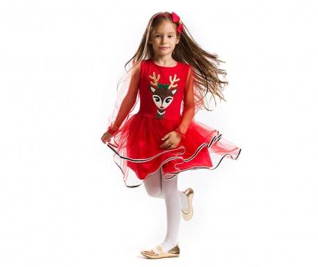 Otroška obleka z dolgimi rokavi Tulle Deer 6 let