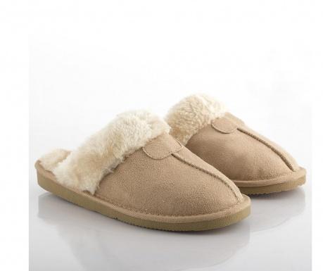 Papuci de casa dama Relax Fur Brown