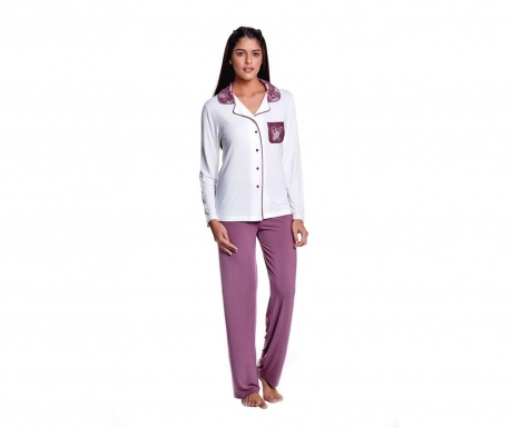 Pijama dama Olivia Berry Cream